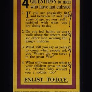 4 questions to men who have not enlisted. 1. If you are ...