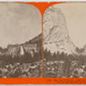 The Cap of Liberty, 4,000 feet above Yo-Semite Valley, and Nevada Fall, ...
