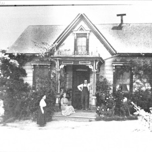 Palmer family on the porch of their home