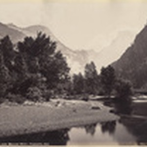 The Domes, and Merced River, Yosemite, Cal.