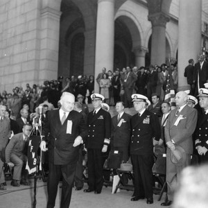 Navy Day celebration at Los Angeles City Hall