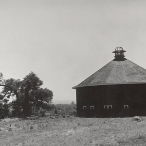 Exterior view of the Round Barn of Fountain Grove, 3501 Round Barn ...