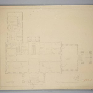 Proposed Huntington residence first floor plan, June 12 1905
