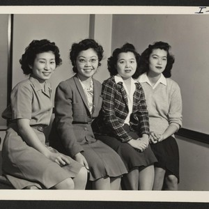 This is a group picture of the Nisei residing at the Buffalo ...