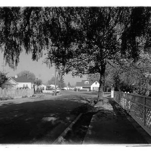 Beaver Street at intersection with Neale Drive, Santa Rosa, California, 1958