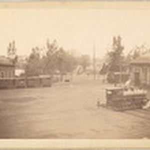 [Southern Pacific Railroad Sacramento Shops complex: view of multiple buildings]