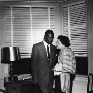 Nat King Cole and Louella Parsons