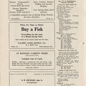 Club News, February 1929, Owensmouth Women's Club