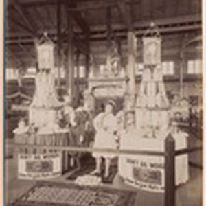 View of the exhibit of Faultless Pepsin Chips Chewing Gum at Mechanic's ...