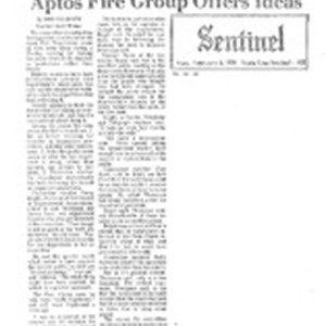 Aptos Fire Group Offers Ideas