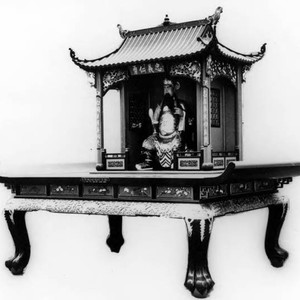 "Photograph of ""Quan Ti"" Temple Altar with Quan Dai deity. Altar was ..."