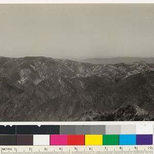 View north from the ridge between Pacoima and the Little Tujunga showing ...