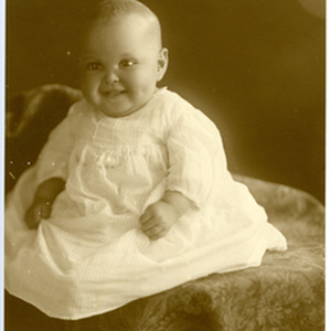 Baby portrait of the Holland's baby