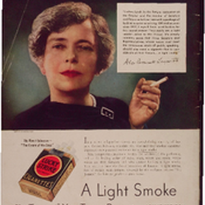 "Alice Roosevelt Longworth says: ""they're a little smoke, king to the throat"