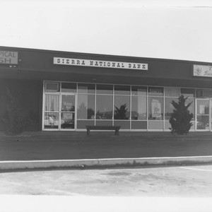 Unidentified branch of Sierra National Bank, about 1965
