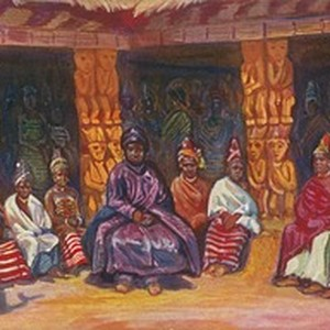 Njoya and his wives, in Cameroon