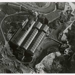 [Aerial view of Sutro Baths]