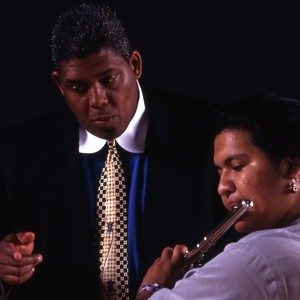 James Newton with woman playing the flute