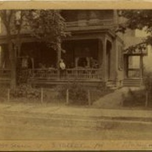 "James Jenkins (1886-1960) sitting on the porch railing, circa 1894 Eleanor ""Dolly"" ..."