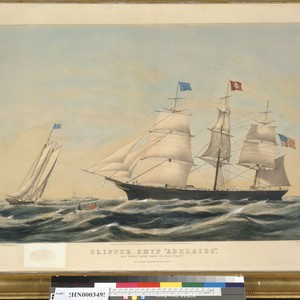 "Clipper ship ""Adelaide"": off Sandy Hook, ""Hove to for a pilot"""