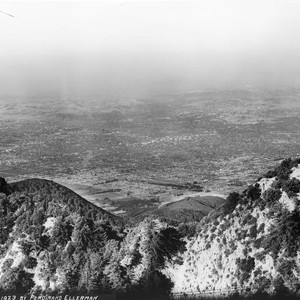 Telephoto view of Pasadena from Mount Wilson