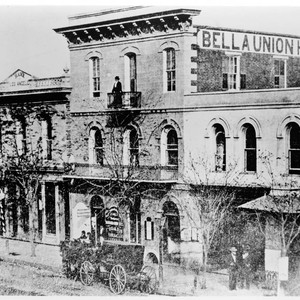 Bella Union Hotel and Bank of Los Angeles (now Farmers and Merchants) ...