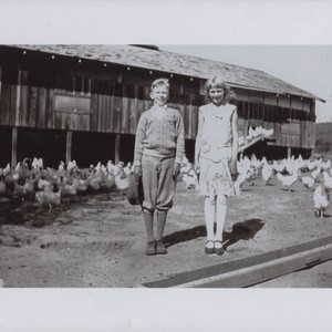 Elmer and Ruby Scott at the family chicken ranch, Bodega Avenue, Petaluma, ...