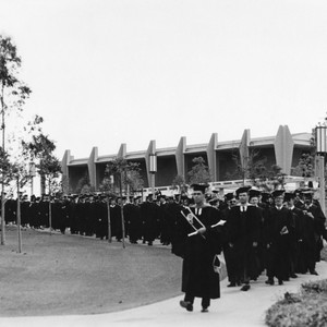 Academic procession at 1967 Commencement
