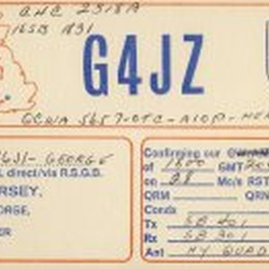 QSL Card to K6JI from G4JZ