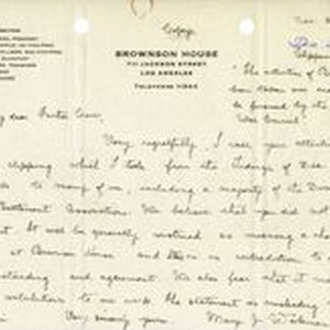 Mary J. Workman letter to Fr. Corr, 1919 December 28