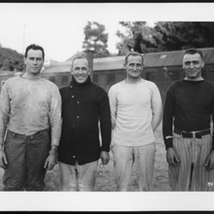 University of Southern California football coaching staff, 1922 season. USC campus, Los ...