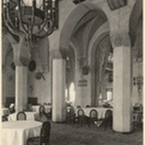[Interior main dining room general view Pacific Coast Club, Long Beach]