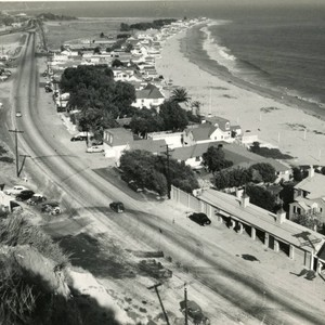 Malibu Road and Colony, ca. 1950