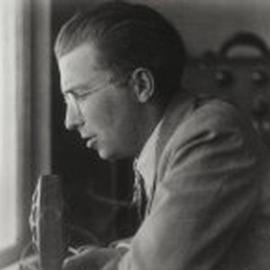 Theron Fox at the mike, 1932