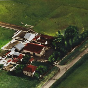 Aerial view of the Sartori Dairy Ranch, 1416 Casa Grande Road, Petaluma, ...