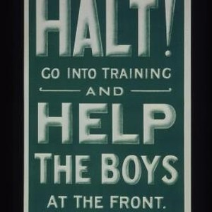 Halt! Go into training and help the boys at the front