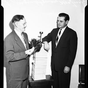 Father and son mayors, 1957