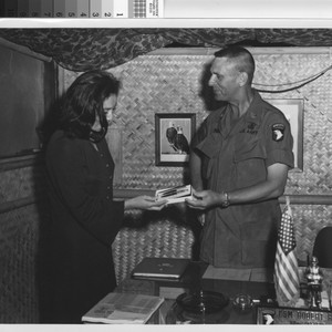 Army photo - L. (Giese) Patterson Vietnam visit