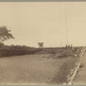 Flag raising Fort Rice, Feby. 14, 1899
