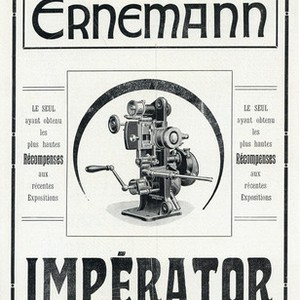 Magazine Advertisement for the Ernemann Projector, the Imperator