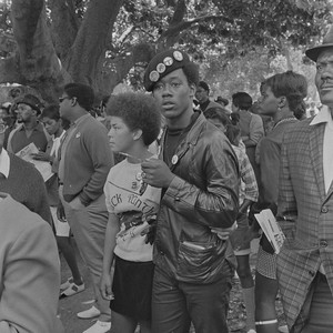 Black Panther couple listening, Free Huey Rally, DeFremery Park, Oakland, CA, #20 ...