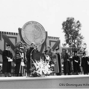 Presidential Party at 1979 graduation