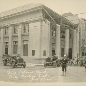First National Bank, Santa Barbara Quake, June 29-25 [June 29, 1925]