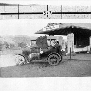 C.L. Newcomb in his car parked at the Kenwood Depot