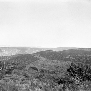 Looking southeast from east mountain, showing mesas continuing east