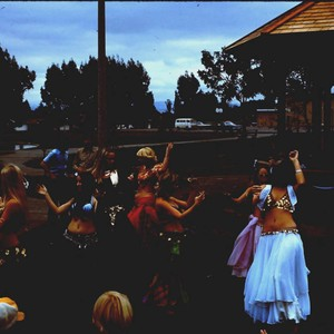 Belly dancers performing at the dedication of the gazebo at Brookhaven Park, ...