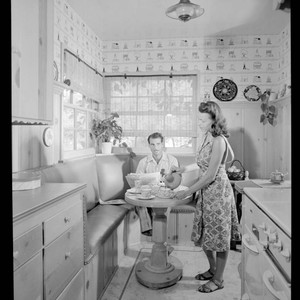 Evans, William and Jane, residence. Kitchen and eating area