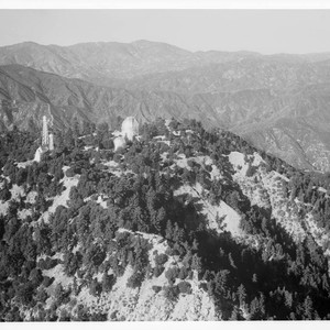 Aerial view of Mount Wilson Observatory