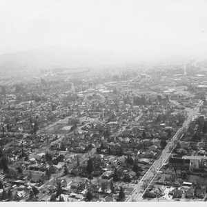 Aerial view of Santa Rosa looking south along Mendocino Ave