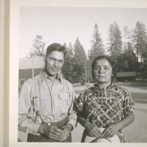 Fred and Mary Muhly at North Fork Union School; 1937; 9 prints, ...